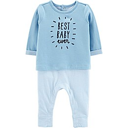 carter's® Best Baby Coverall in Light Blue