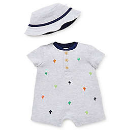 Little Me® 2-Piece Cactus Romper Set in Grey