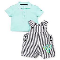 a833d4b0eb4 Little Me® 2-Piece Cactus Shortalls Set in Grey