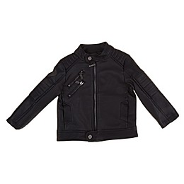 Urban Republic Faux Leather Motorcycle Jacket in Black