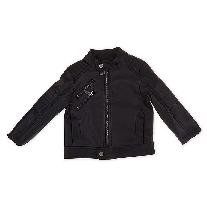 Alternate image 1 for Urban Republic Size 18M Faux Leather Motorcycle Jacket in Black