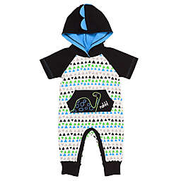 Baby Starters® Dinosaur Hooded Coverall in White/Black