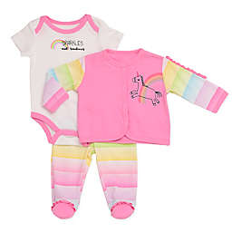 Baby Starters® 3-Piece Rainbow Unicorn Take Me Home Set in Pink