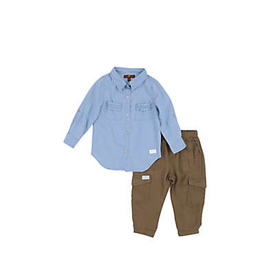 7 For all Mankind® 2-Piece Shirt and Cargo Pant Set
