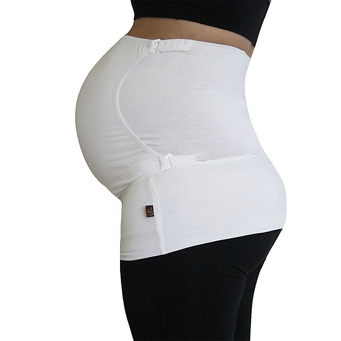Alternate image 1 for Pure Belly 3-in-1 Pregnancy & Postpartum White Belly Support Wrap