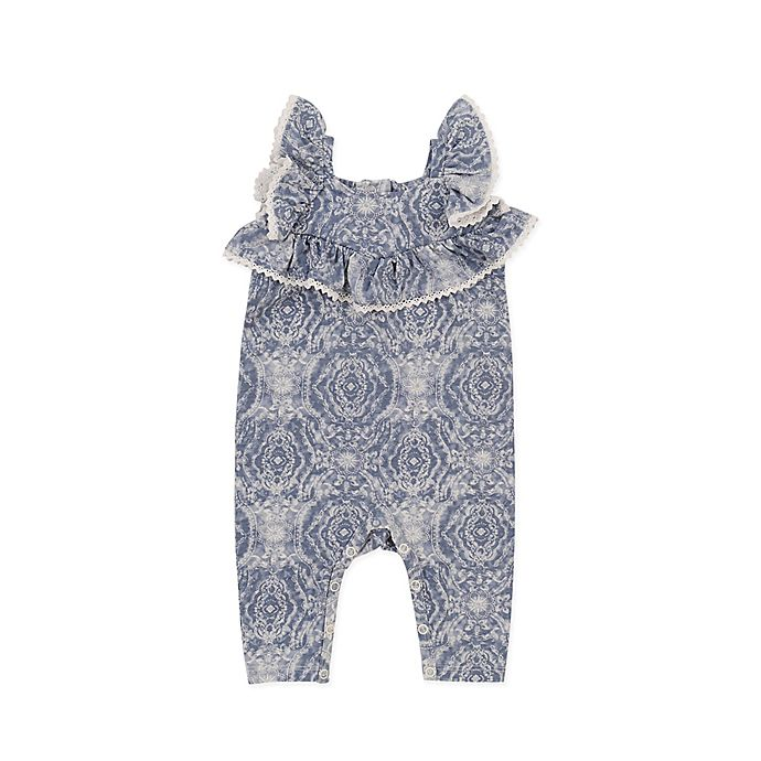 Alternate image 1 for Jessica Simpson Tile Romper in China Blue
