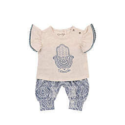 Jessica Simpson Namaste 2-Piece Top and Pant Set in Grey