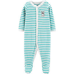 carter's® Dog Terry Striped Sleep & Play in Teal
