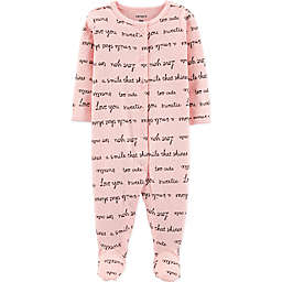 carter's® Pointelle Script Footie in Pink