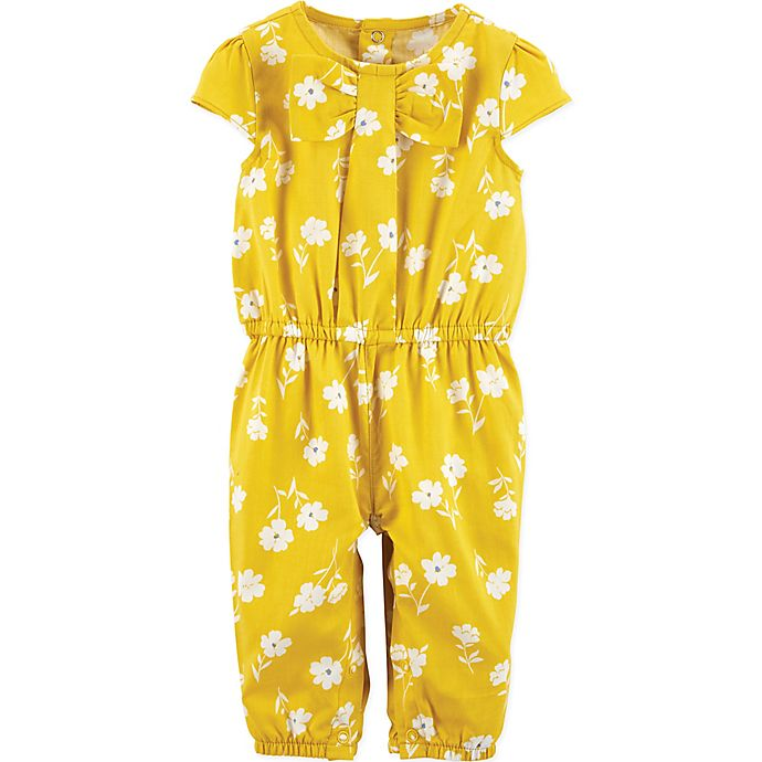Alternate image 1 for carter's® Size 24M Floral Romper in Yellow