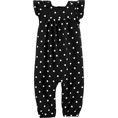 carter's® Polka Dot Romper in Black/White