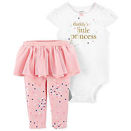 carter's® 2-Piece Princess Bodysuit and Tutu Pant Set in White
