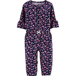 carter's® Floral Long Sleeve Romper in Navy