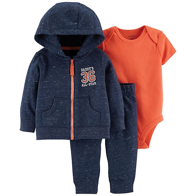 Alternate image 1 for carter's® Size 9M 3-Piece Daddy's All Star Little Jacket Set in Navy