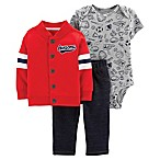 "carter's® Size 12M 3-Piece ""Awesome"" Jacket Set in Red"