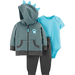 carter's® Monster 3-Piece Jacket Set in Grey