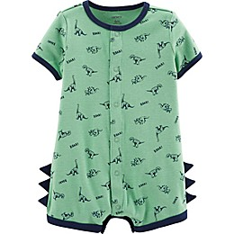 carter's® Snap-Up Dinosaur Romper in Green