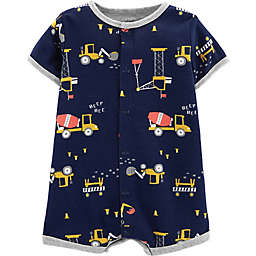carter's® Snap-Up Construction Romper in Navy