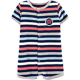 carter's® Snap-Up Super Dog Striped Romper