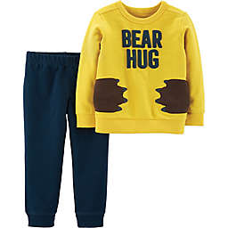 carter's® 2-Piece Bear Hug Shirt and Pants Set in Yellow