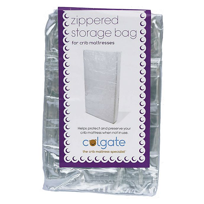 Alternate image 1 for Zippered Crib Mattress Storage Bag in Clear by Colgate Mattress®