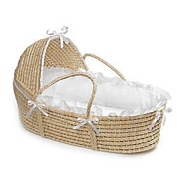 Badger Basket® Maize Hooded Moses Basket in White