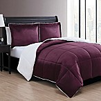 VCNY Home Micro Mink Sherpa Reversible 3-Piece King Comforter Set in Purple