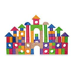 Verdes Color 100-Piece Wood Foam Blocks