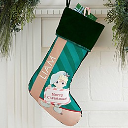 Precious Moments® Christmas Elf Personalized Stocking