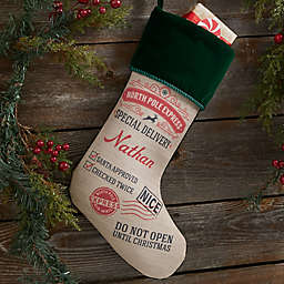 Special Delivery From Santa Personalized Christmas Stocking