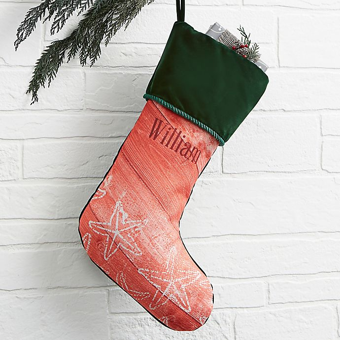 Alternate image 1 for Coastal Home Personalized Christmas Stocking