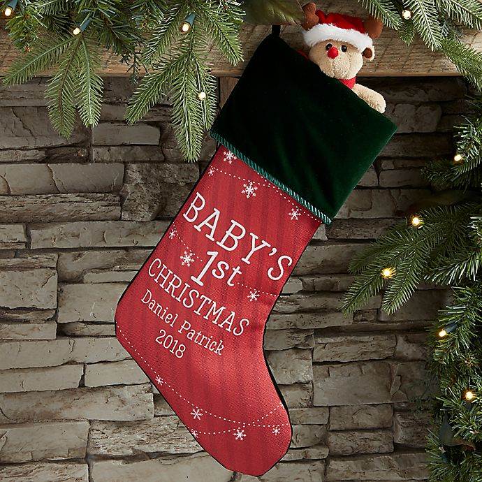 Baby S First Christmas Personalized Christmas Stocking Bed Bath Beyond