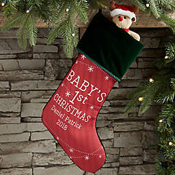 6cb8491b372 Baby s First Christmas Personalized Christmas Stocking