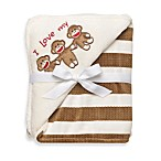 Baby Starters® Sock Monkey Blanket in Cream Stripe