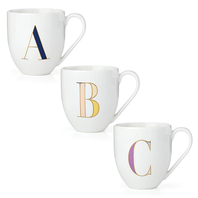 Alternate image 1 for kate spade new york It's Personal™ Monogrammed Letter Mug Collection
