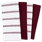 Piedmont Kitchen Towels in Wine (Set of 8)