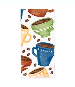 KitchenSmart® Colors Toalla de cocina con diseño de tazas de café