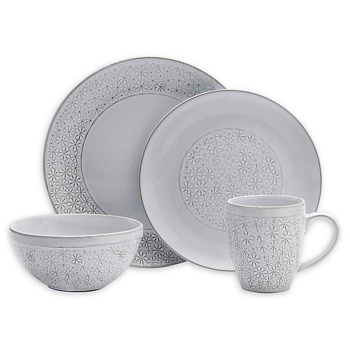Alternate image 1 for Pfaltzgraff® Blossom 16-Piece Dinnerware Set in White