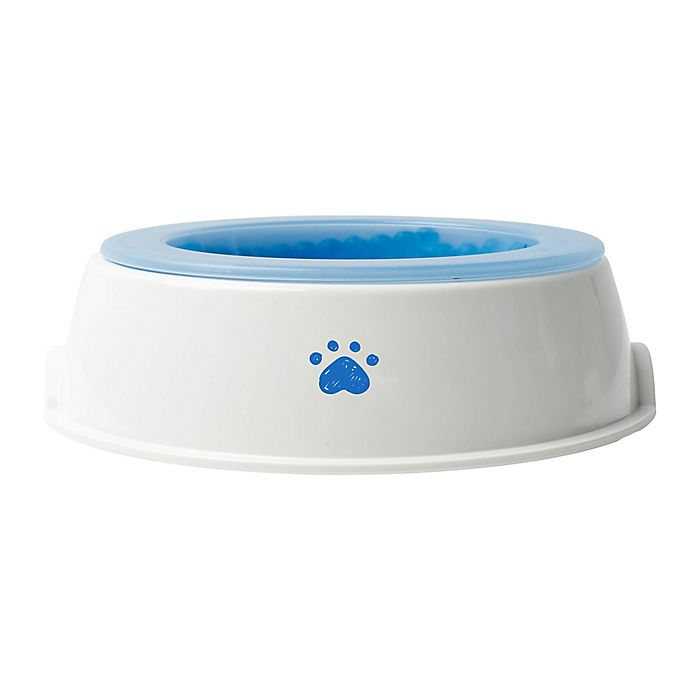 Alternate image 1 for Pawslife™ 16 oz. Cooling Bowl in White/Blue