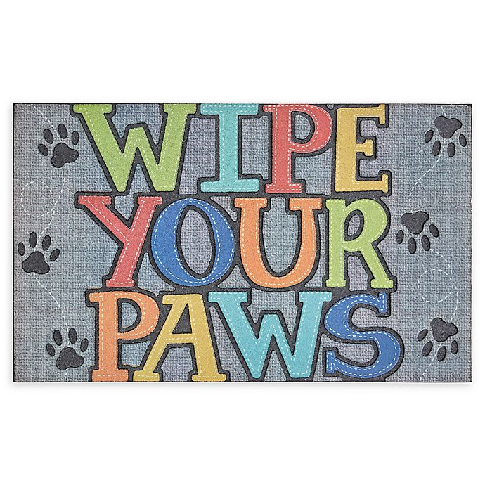 Mohawk Home Doorscapes Wipe Your Paws 18 X 30 Rubber Door Mat In Grey Bed Bath Beyond