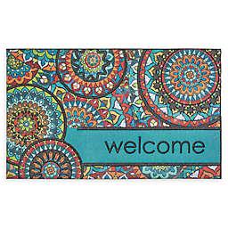 "Mohawk Home® Doorscapes Bohemian Kingdom Welcome 18"" x 30"" Rubber Door Mat"