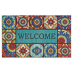 "Mohawk Home® Doorscapes Exotic Tiles Welcome 18"" x 30"" Rubber Door Mat"