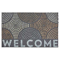 "Mohawk Home® Doorscapes Radiant Color Burst Welcome 18"" x 30"" Rubber Door Mat"