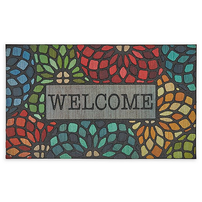 Alternate image 1 for Mohawk Home® Doorscapes Stained Glass Floret Welcome 18\