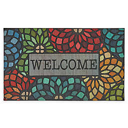 """Mohawk Home® Doorscapes Stained Glass Floret Welcome 18"""" x 30"""" Rubber Door Mat"""