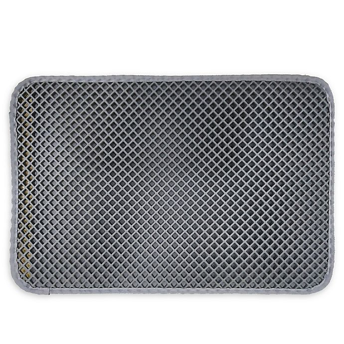Alternate image 1 for Pawslife® Pocketed Litter Mat in Grey