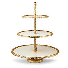 Julia Knight® Florentine Gold 3-Tier Server in Snow
