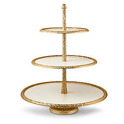 Julia Knight® Florentine Gold 3-Tier Server in Snow