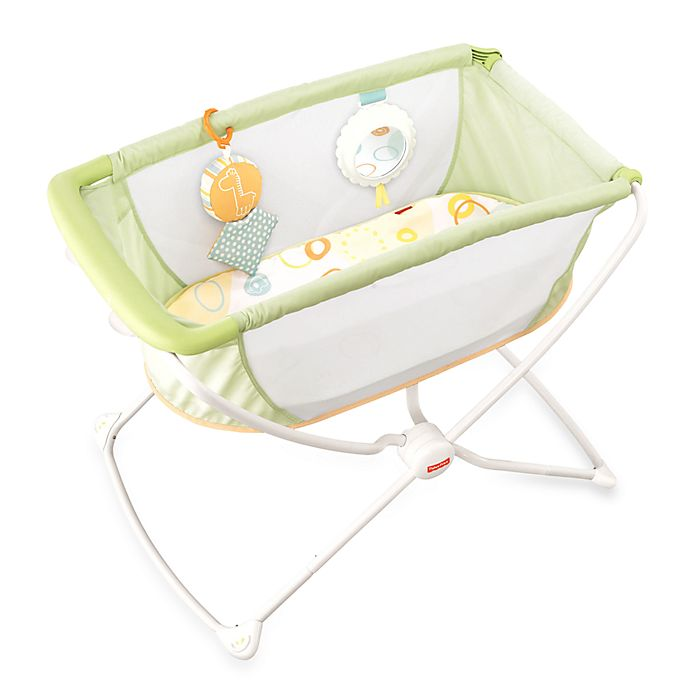 Alternate image 1 for Fisher-Price® Portable Bassinet in Yellow