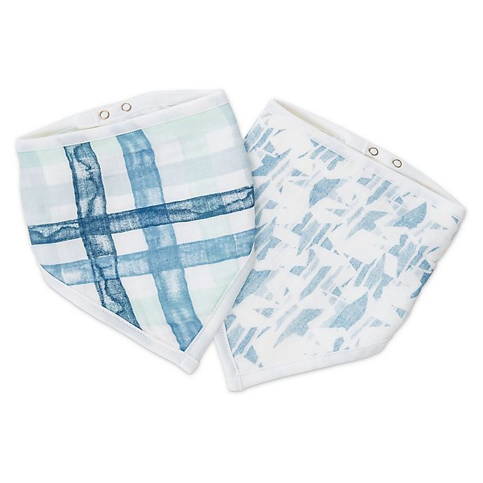 Alternate image 1 for aden + anais™ essentials Bandana Bibs, Briar Rose  (2-Pack)
